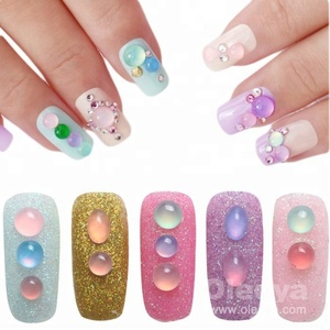 Newest 5mm round resin nail art rhinestone fancy cat eye flatback crystal stones for nail decorations