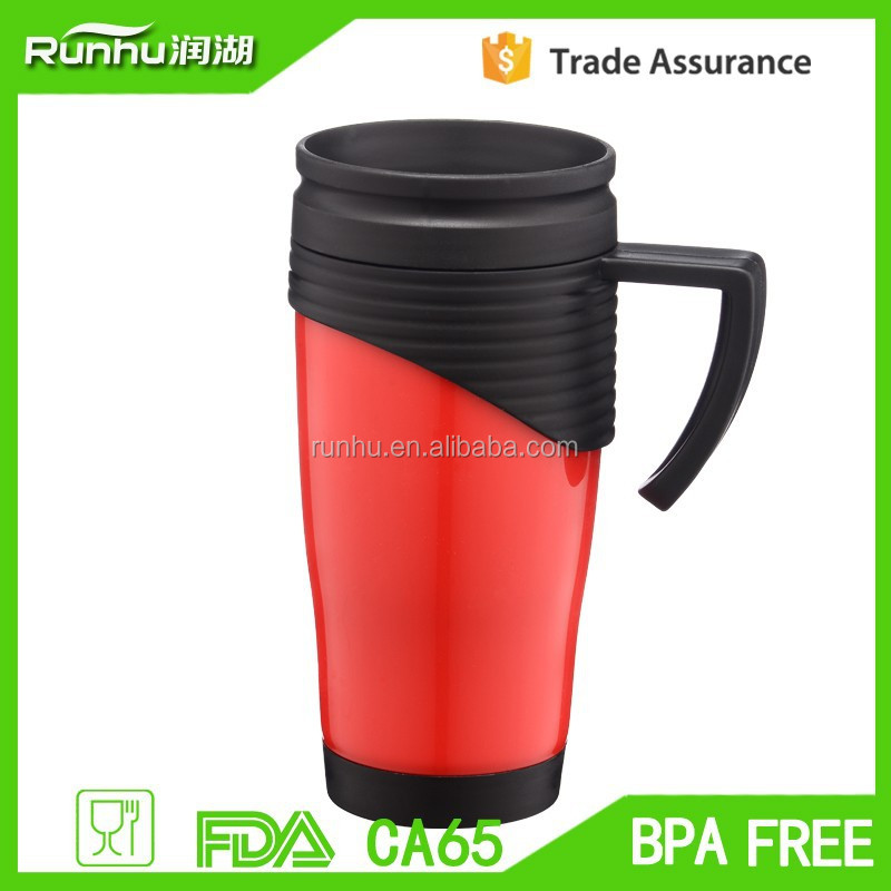 Drinkware DIY Plastic Coffee Mugs With Removable Promotion Card RH132-14