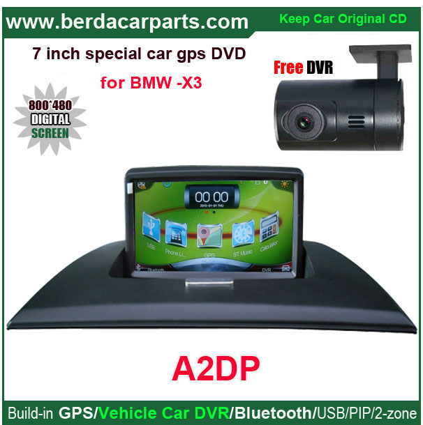 """Car audio for Bmw X3 car video for Bmw with 7""""touch screen,GPS,DVR,BT,USB.PIP.Free 8G USB,8G SD"""
