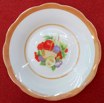 White Porcelain Tableware Round Shaped Ceramic Soup Plate Original