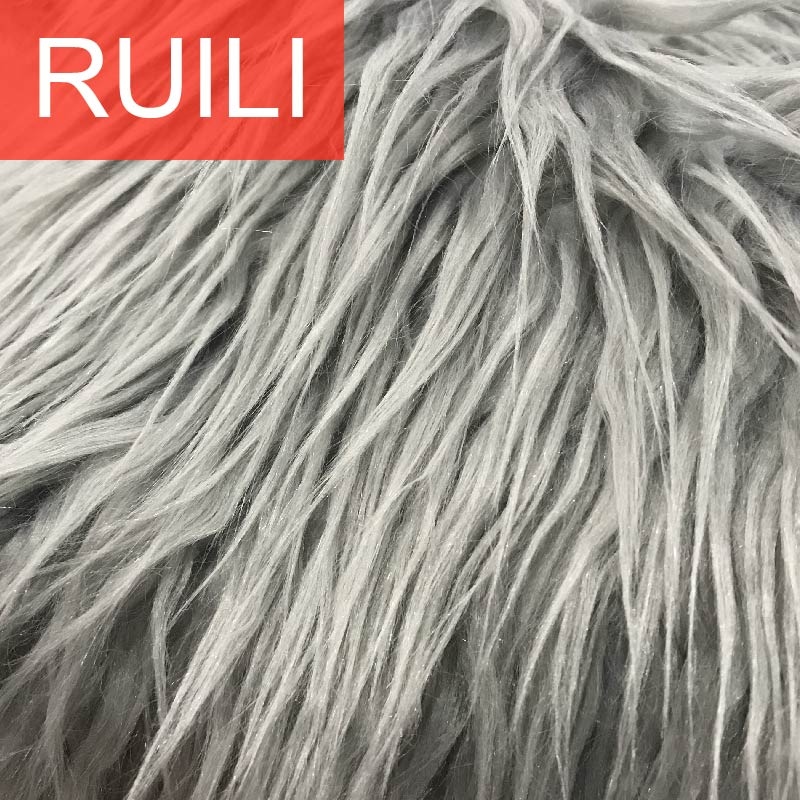Long Pile mink fur fabric from faux fur manufacturers