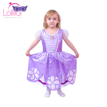 Wholesale fancy dress halloween costumes kids sofia princess costume for girl