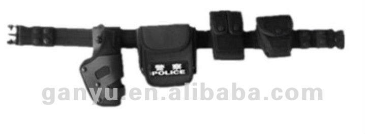 Police Nylon Duty Belt Security Belt with pouches holster