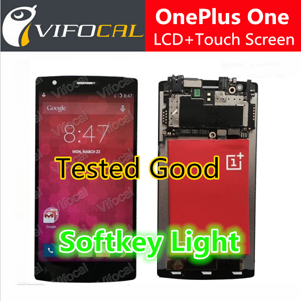 Oneplus One screen With softkey illumination light LCD Display Touch Screen 100 new Assembly Replacement for