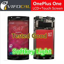 Oneplus One screen With softkey illumination light LCD Display + Touch Screen 100% new Assembly Replacement for cell Phone