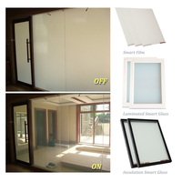 China pdlc film factory hotsale Self Cling Smart Film Electric Tint Smart Glass Film for glass windows and doors