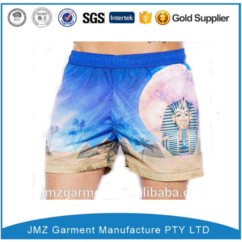 Brand quality sublimation board shorts 4 way stretch men surfing board shorts