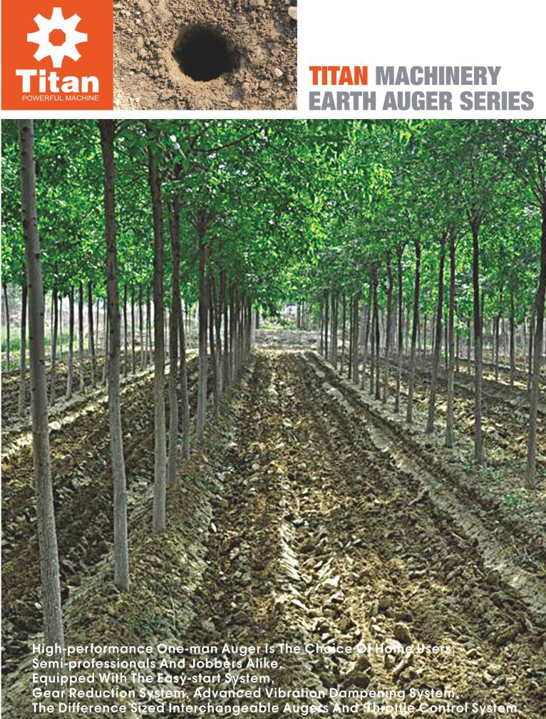 Benzin 52cc Erdbohrer Baum Boden Bohrer Maschinen