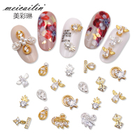 Nail Art Decorations Metal Alloy Rivets Shiny Crystal Jewelry