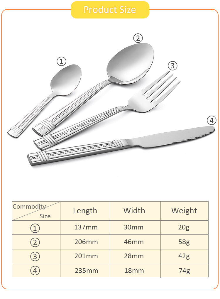 Portable Travel Set Outdoor Spoon Stainless Steel Restaurant Cutlery