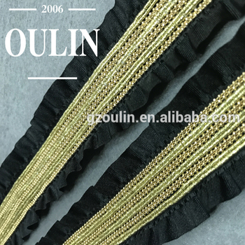 ball chain trim type metal ball chain lace trim using on garments folding trimmings