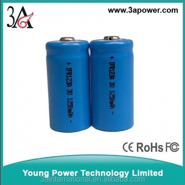 CR123A 16340 1250mah rechargeable lithium battery 3v strong light flashlight batteries 3v rechargeable battery