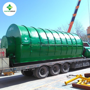 waste treatment to recycle waste tyres to oil make fuel oil pyrolysis machine