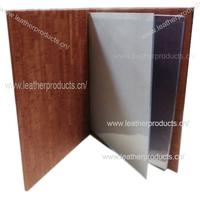 Brown A4 food menu cover,leather wine list,restaurant menu design