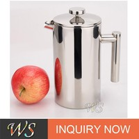 WS-PL301 Double Walled Stainless Steel French Press Cofee Maker