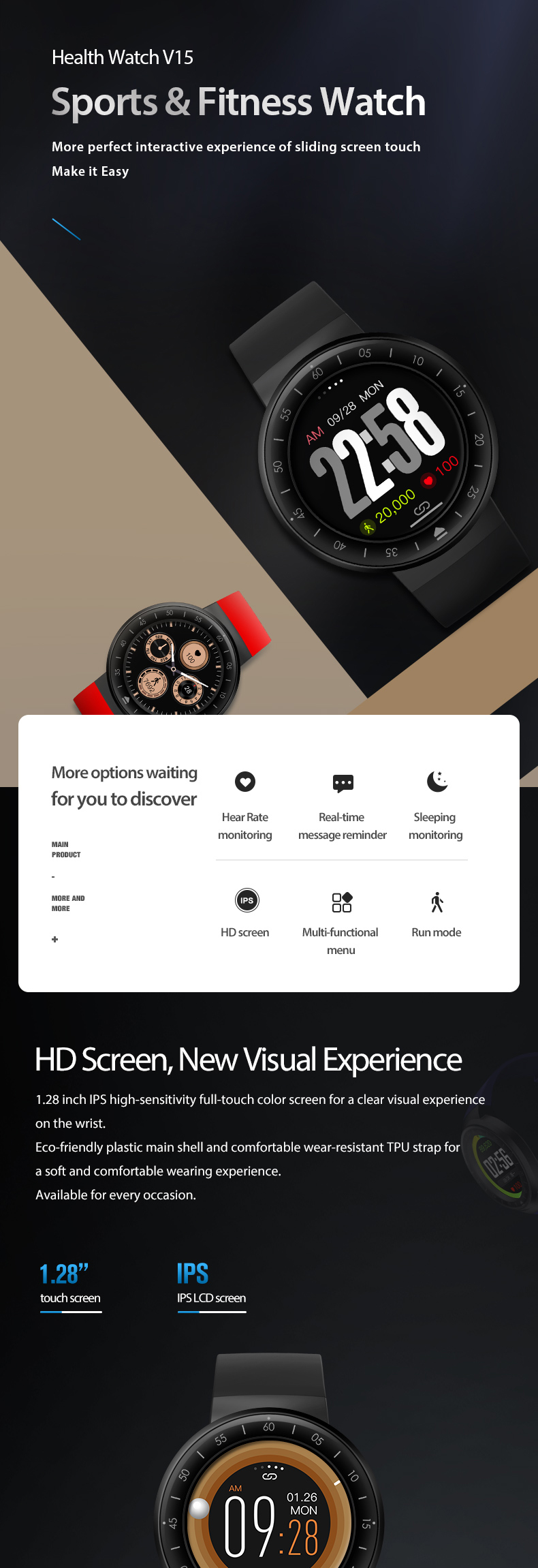 Smartwatch manufacturer watch smart waterproof ,high end extreme fitness activity tracker , bluetooth activity tracker with ce