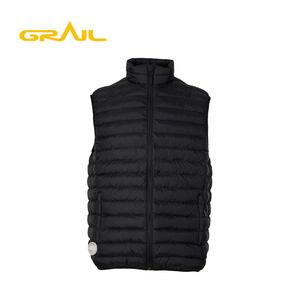 Hot selling high quality fancy sleeveless men's winter padding waterproof vest