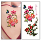 Hot Selling Fake Beautiful 3D Butterfly Flowers Back Tattoo Paper
