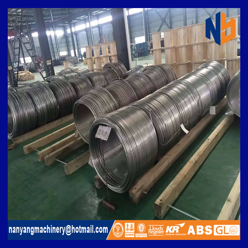 ASTM welded stainless steel coil pipe 304 for multi- core tube