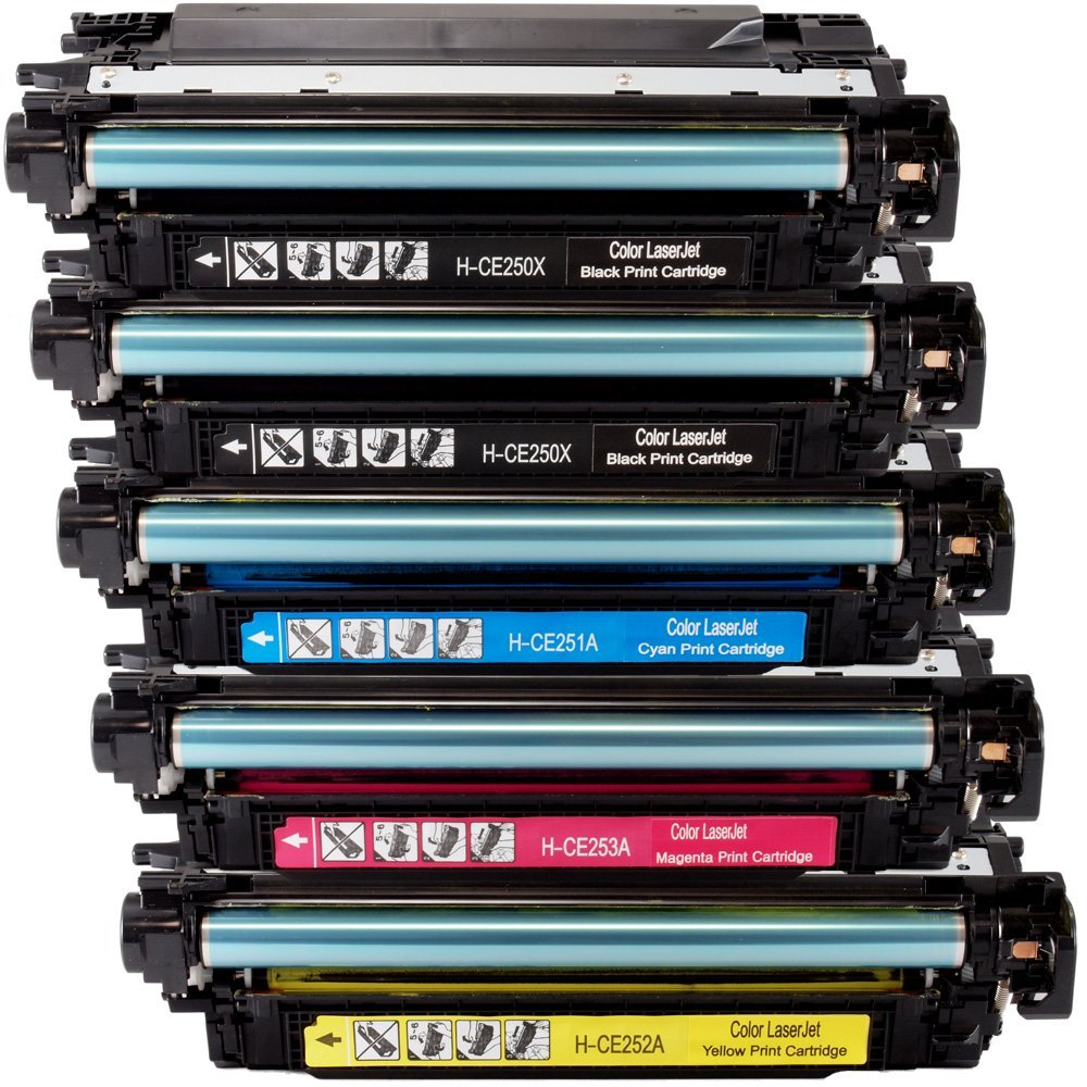 Works with: Color Laserjet CP3525 CP3525X CP3525DN CP3525N CM3530FS MFP CM3530 Black MS Imaging Supply Compatible Toner Replacement for HP CE250A