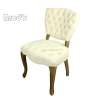 living room furniture fabric cushion Antique French style home furniture wood design dining chairs