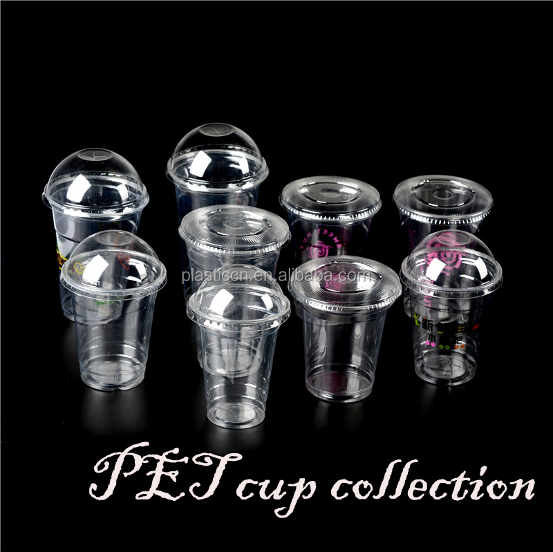 zhejiang yiwu disposable plastic tea pet bubble cups