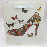 Elegent High Quality Butterflies High-heeled Shoes Design Gift Bag