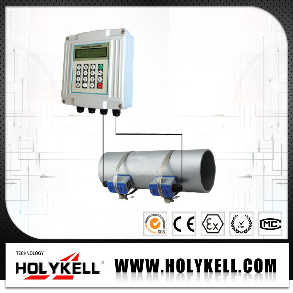 Hot sale digital clamp on type portable ultrasonic bitumen flowmeter