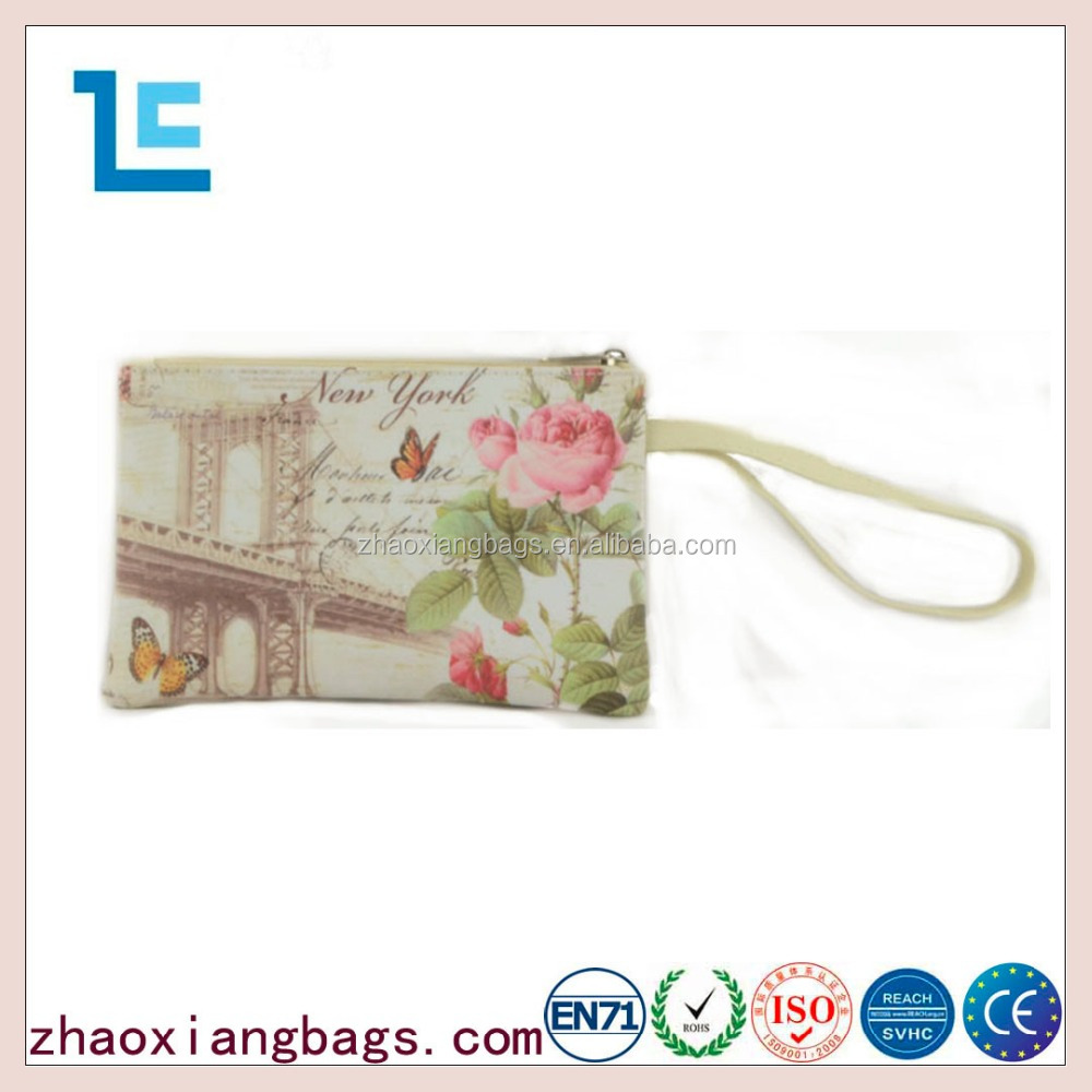 Zhaoxiang 2016 fashion new york style leather travel toiletry makeup bags for cheap