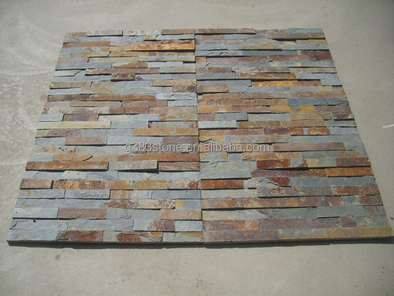 Decorative Wall Tiles For Outside : Covering decorative outdoor stone wall tiles natural slate