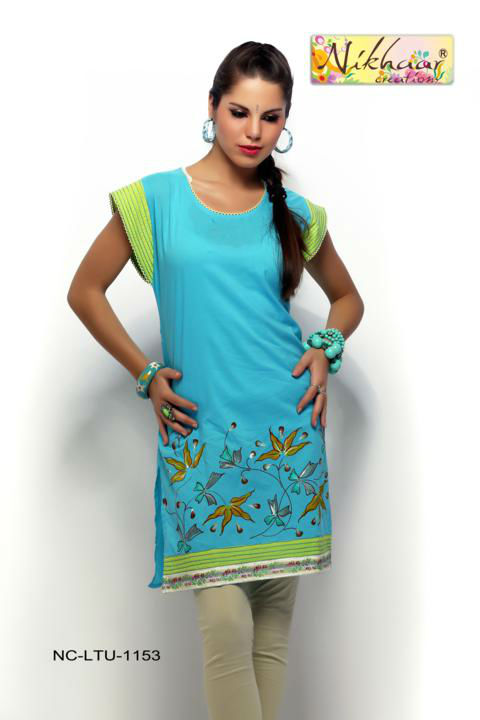 Beautiful India Designer Party Wear Stylish Exclusive Tunic Blouse ...