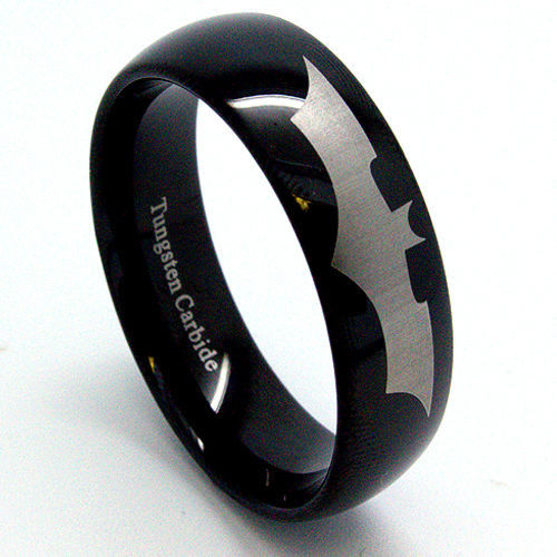 Get Quotations Hot Sale In US Brazil Canada AU 8MM Black Superman Batman Tungsten Carbide Ring Mens Wedding
