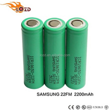 Wholesale real ICR li ion 18650 22 FM 2200mAh 3.7V rechargeable power bank battery