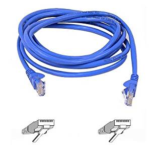 """Belkin, Patch Cable Rj-45 (M) Rj-45 (M) 15 Ft Utp Cat 5E Molded, Snagless Blue B2b For Omniview Smb 1X16, Smb 1X8, Omniview Smb Cat5 Kvm Switch """"Product Category: Supplies & Accessories/Network Cables"""""""