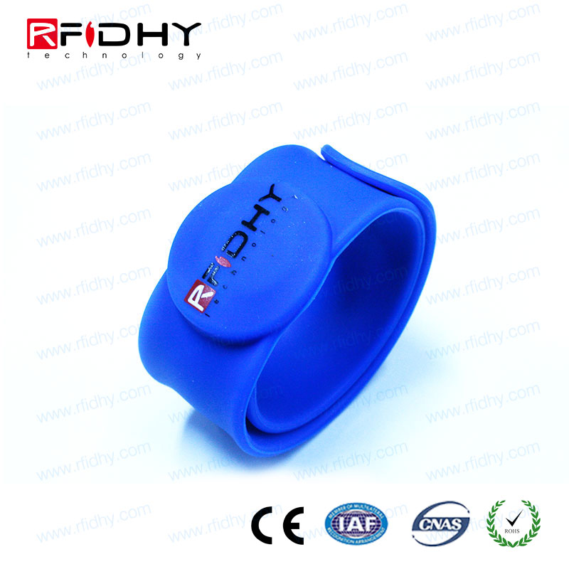Plain color Silk-screen printing silicon rfid bands for Amusement Parks