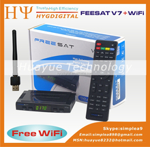 Original Freesat V7 hd mini satellite tv receiver Support PowerVu biss key Cccam freesat v7 satellite receiver