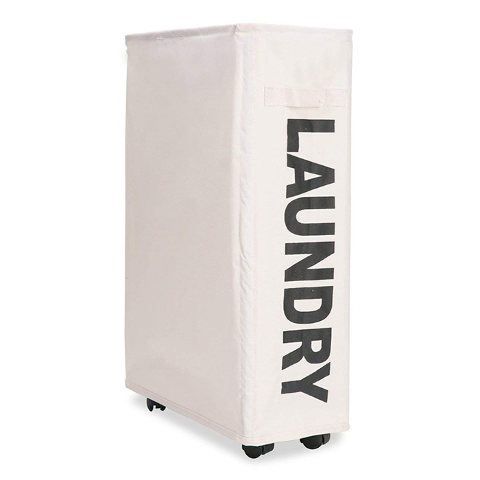 Home Storage Folding dirty laundry hamper collapsible fabric laundry bakset with wheels