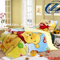 china textile factory price polyester cotton fabric bed linen 3d bed sheet with embroidery designs