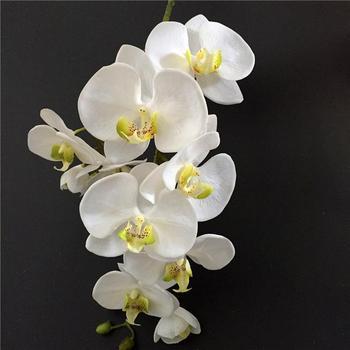 Latex Green Cymbidium Orchid Flower Artificial Orchids