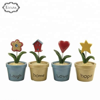 Polyresin spring gifts flower pot with love for table and home decoration