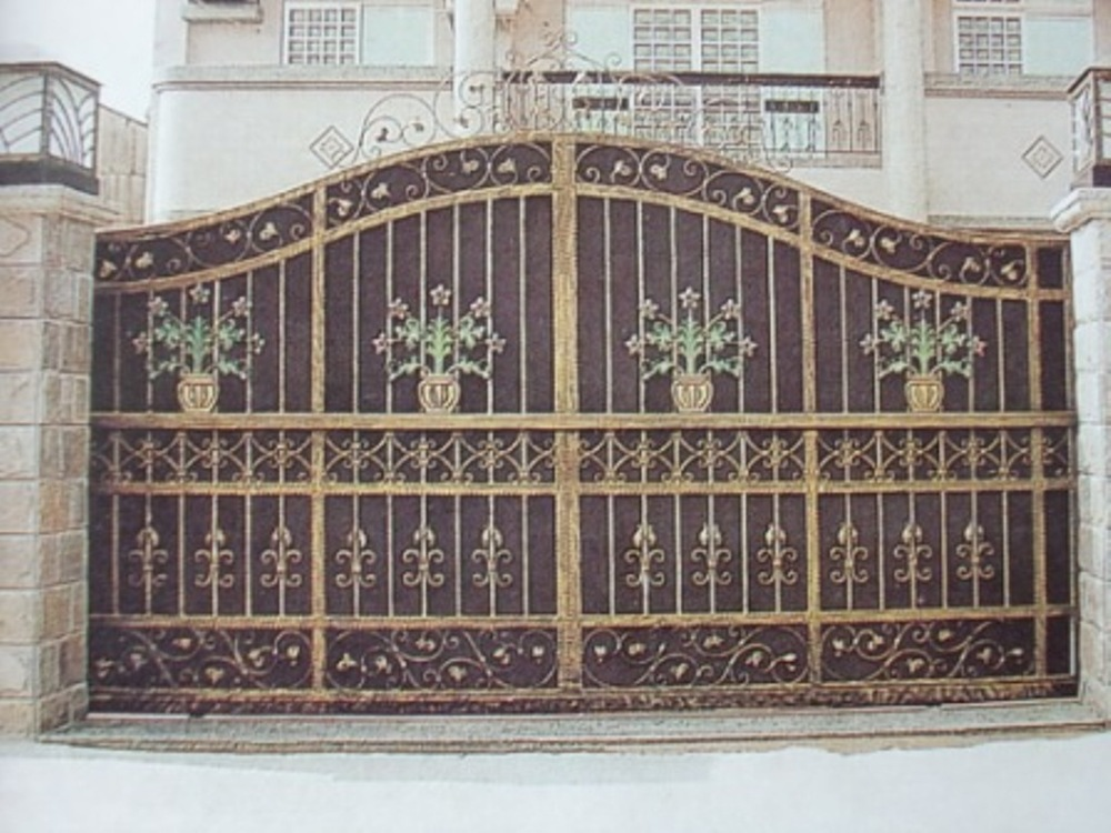 House gate designs iron gate for home vila park garden for Home gate design