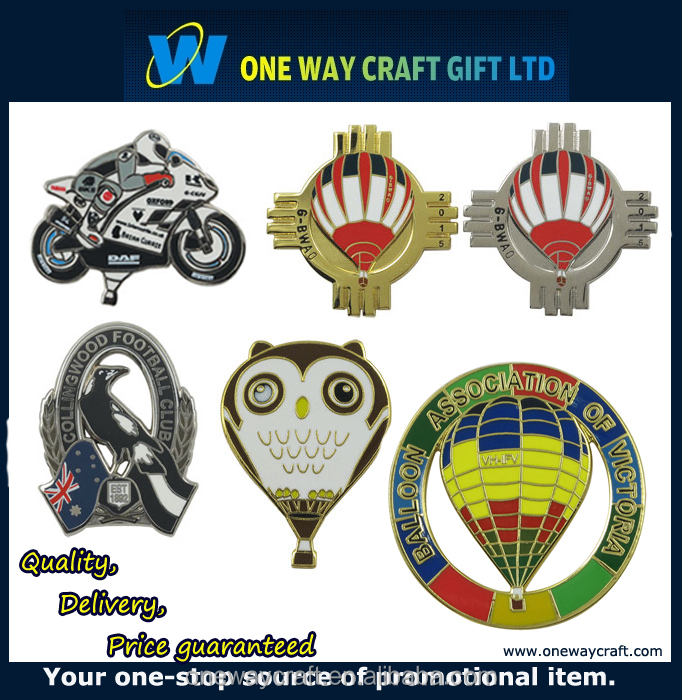 Wholesale customized cheaper hard enamel badge