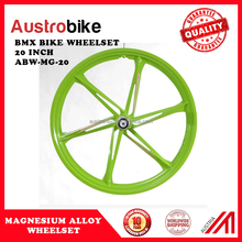 Disc Brake Front & Rear Bearing 20 Inch Magnesium Alloy Uni-wheelset For Folding BMX Bike wholesale price low MOQ