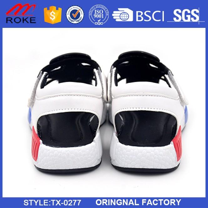 Factory hot sale summer beach sandals high quality PU boys sandal shoes