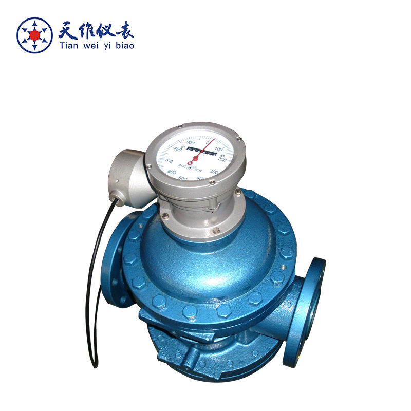 High viscosity dual spiral flow meter