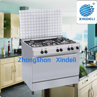 Convection Free standing gas cooker with gas stove with double glaze oven door for wholesale