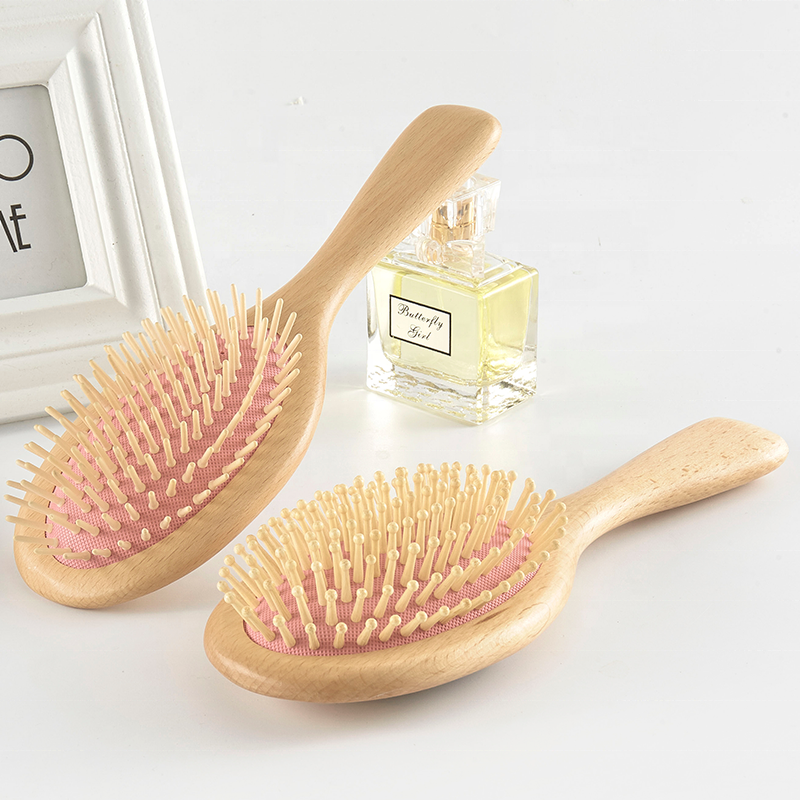 Wholesale Wooden Paddle Scalp Massage Hair Straightener Brush Set Of 2 Pack