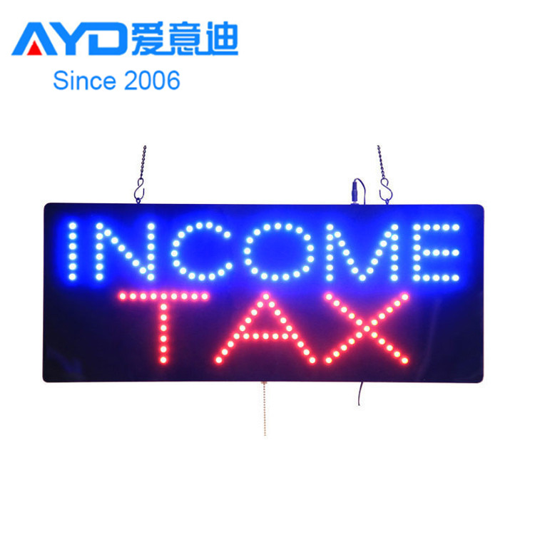 Factory direct price advertising led street display signs INCOME TAX led open closed sign