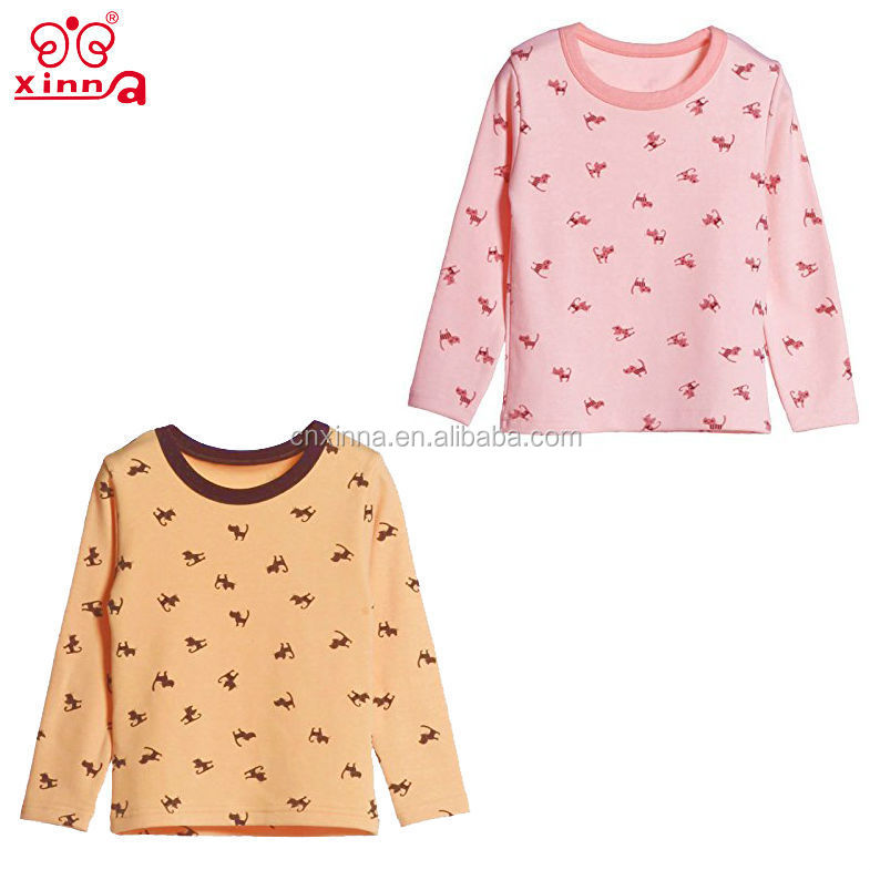 2016 lovely children soft eco-friendly 100%cotton wholesale kids pyjamas