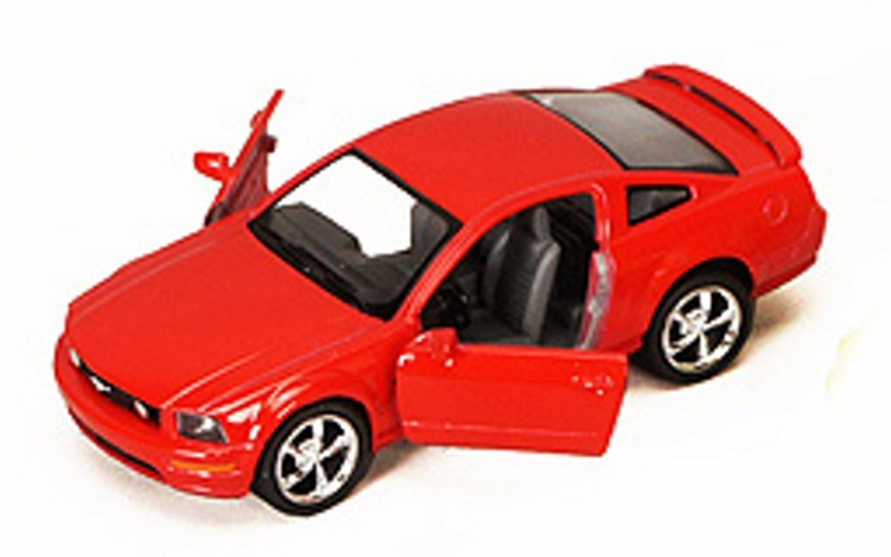 2006 Ford Mustang GT, Red - Kinsmart 5091D - 1/38 scale Diecast Model Toy Car